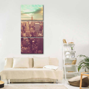New York Cityscape Multi Panel Canvas Wall Art - City