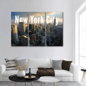 New York State Multi Panel Canvas Wall Art - City