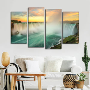 Niagara Falls Multi Panel Canvas Wall Art - Nature