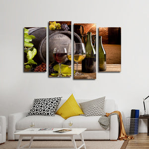 Oak Aroma Multi Panel Canvas Wall Art - Winery