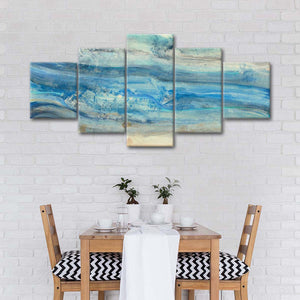 Ocean Waves Multi Panel Canvas Wall Art - Abstract