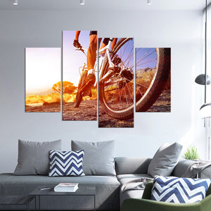 Off Road Cycling Multi Panel Canvas Wall Art - Bicycle