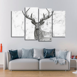 Oh Deer Multi Panel Canvas Wall Art - Deer