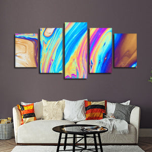 Oil Slick Multi Panel Canvas Wall Art - Abstract