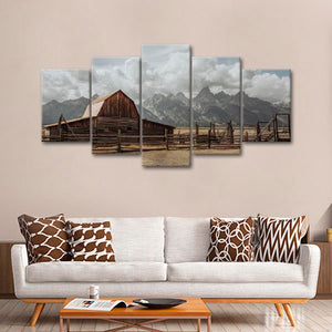 Old Barn Multi Panel Canvas Wall Art - Nature