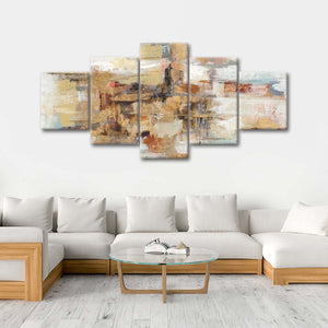 Old Bridge Reminiscence Multi Panel Canvas Wall Art - Abstract