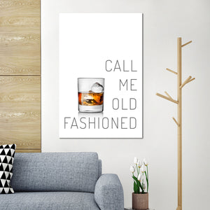 Old Fashioned Canvas Wall Art - Whiskey