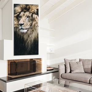 Old Lion Multi Panel Canvas Wall Art - Lion