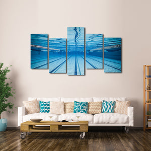 Olympic Pool Multi Panel Canvas Wall Art - Swim
