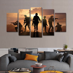 On A Mission Multi Panel Canvas Wall Art - Army
