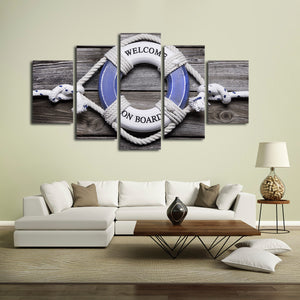 On Board Multi Panel Canvas Wall Art - Beach