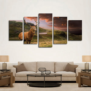 Open Ground Hunting Multi Panel Canvas Wall Art - Hunting