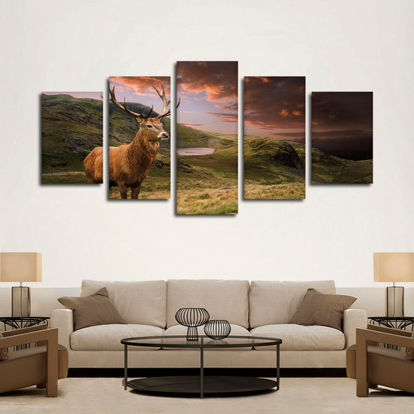Open Ground Hunting Multi Panel Canvas Wall Art