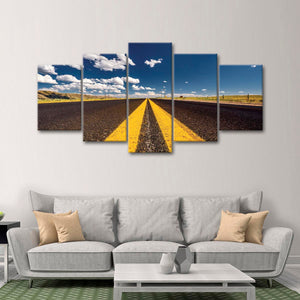 Open Highway Multi Panel Canvas Wall Art - Motor