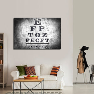 Optometry Test Multi Panel Canvas Wall Art - Optometry