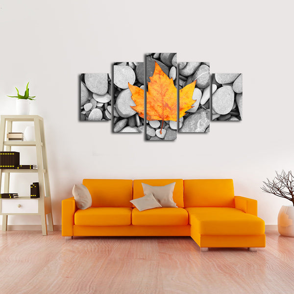 Orange Leaf Multi Panel Canvas Wall Art