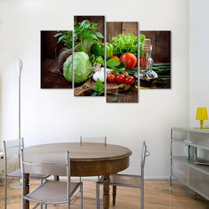Organic Multi Panel Canvas Wall Art - Kitchen