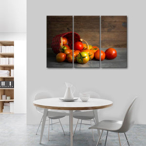 Organic Tomatoes Multi Panel Canvas Wall Art - Kitchen