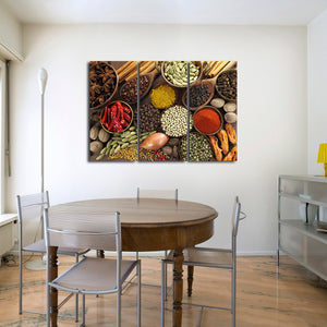 Exotic Market Multi Panel Canvas Wall Art - Kitchen