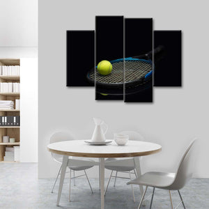 Overhead Slam Dunk Multi Panel Canvas Wall Art - Tennis