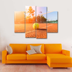 Overhead Smash Landing Multi Panel Canvas Wall Art - Tennis