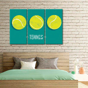 Overspin Multi Panel Canvas Wall Art - Tennis