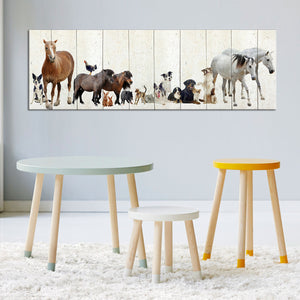 Peculiar Pals Multi Panel Canvas Wall Art - Kids
