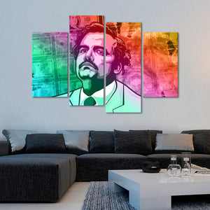 Pablo Escobar Multi Panel Canvas Wall Art - Latin