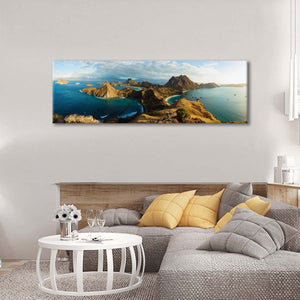 Padar Island Multi Panel Canvas Wall Art - Nature