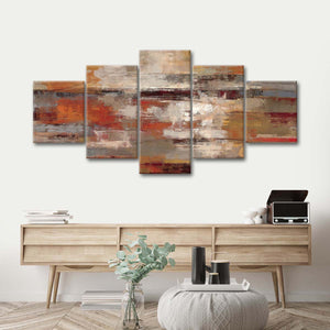 Painted Desert Multi Panel Canvas Wall Art - Abstract