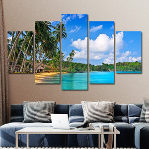 Palm Beach Multi Panel Canvas Wall Art - Beach