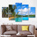 Palm Beach Multi Panel Canvas Wall Art