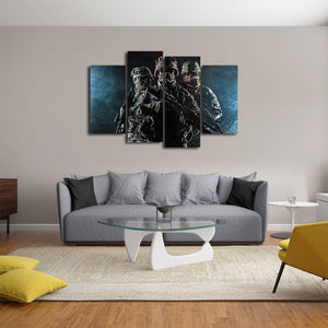 Paratroopers Multi Panel Canvas Wall Art - Army