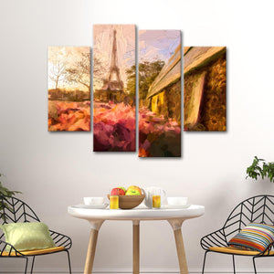 Paris Painting Multi Panel Canvas Wall Art - Paris