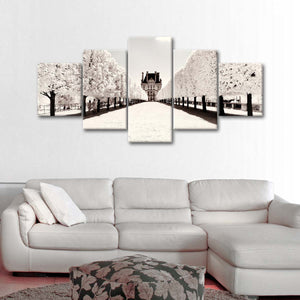 Paris Winter Focal Point Multi Panel Canvas Wall Art - Paris