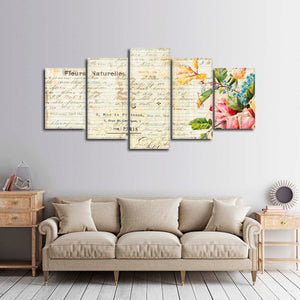 Parisian Floral Multi Panel Canvas Wall Art - Shabby_chic