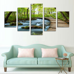 Path To Paradise Multi Panel Canvas Wall Art - Beach