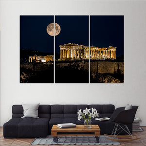 Parthenon of Athens Multi Panel Canvas Wall Art - City