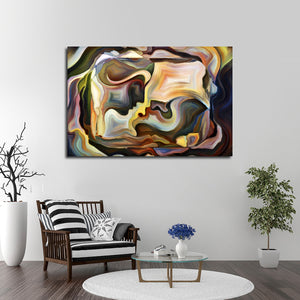 Passionate Moment Multi Panel Canvas Wall Art - Color