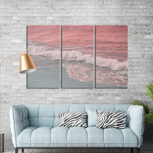 Pastel Ocean Multi Panel Canvas Wall Art - Beach