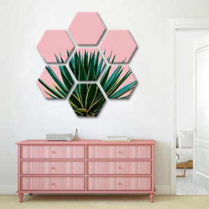 Pastel Tropics Multi Panel Canvas Wall Art - Botanical