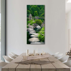 Pathway To Japanese Forest Multi Panel Canvas Wall Art - Nature