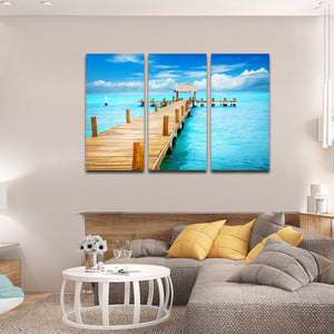 Pathway To Paradise Multi Panel Canvas Wall Art - Beach