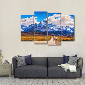 Peaks of Mount Fitz Roy Multi Panel Canvas Wall Art - Argentina