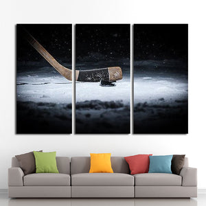 Penalty Shot Multi Panel Canvas Wall Art - Hockey