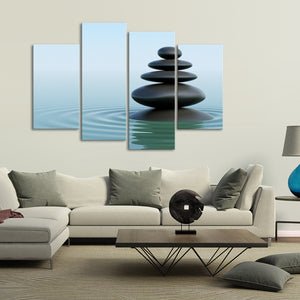 Perfect Balance Multi Panel Canvas Wall Art - Spa