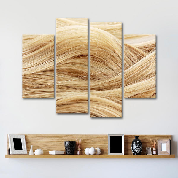 Perfect Blonde Multi Panel Canvas Wall Art
