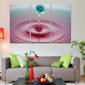 Perfect Droplet Multi Panel Canvas Wall Art - Macro
