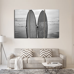Perfect Surf Day Multi Panel Canvas Wall Art - Surfing