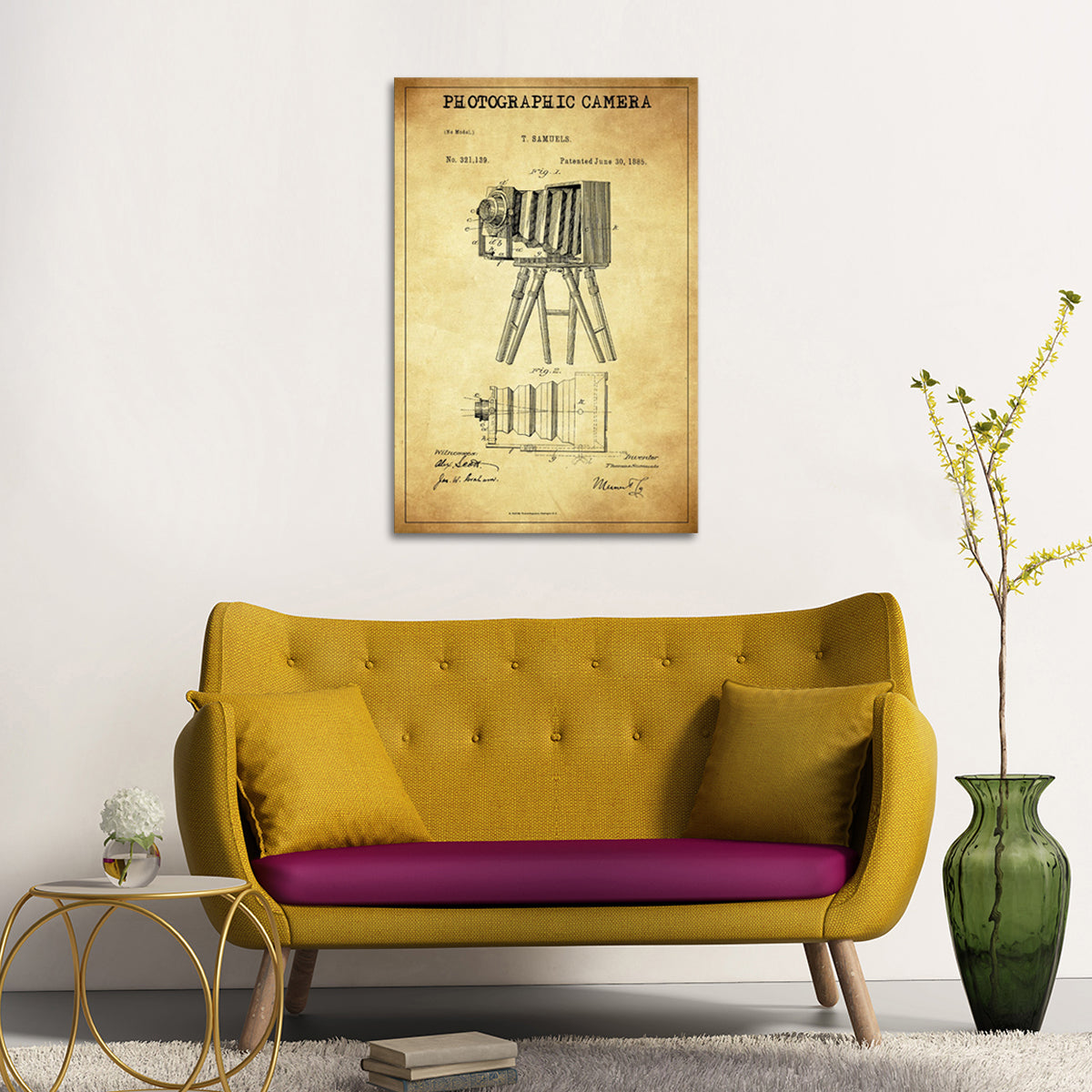 Photographic Camera Patent Canvas Wall Art | ElephantStock